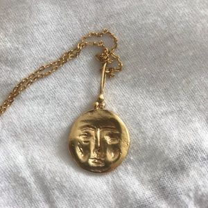 Cleopatra's Bling Jewelry - Cleopatra's Bling Moon Face Necklace